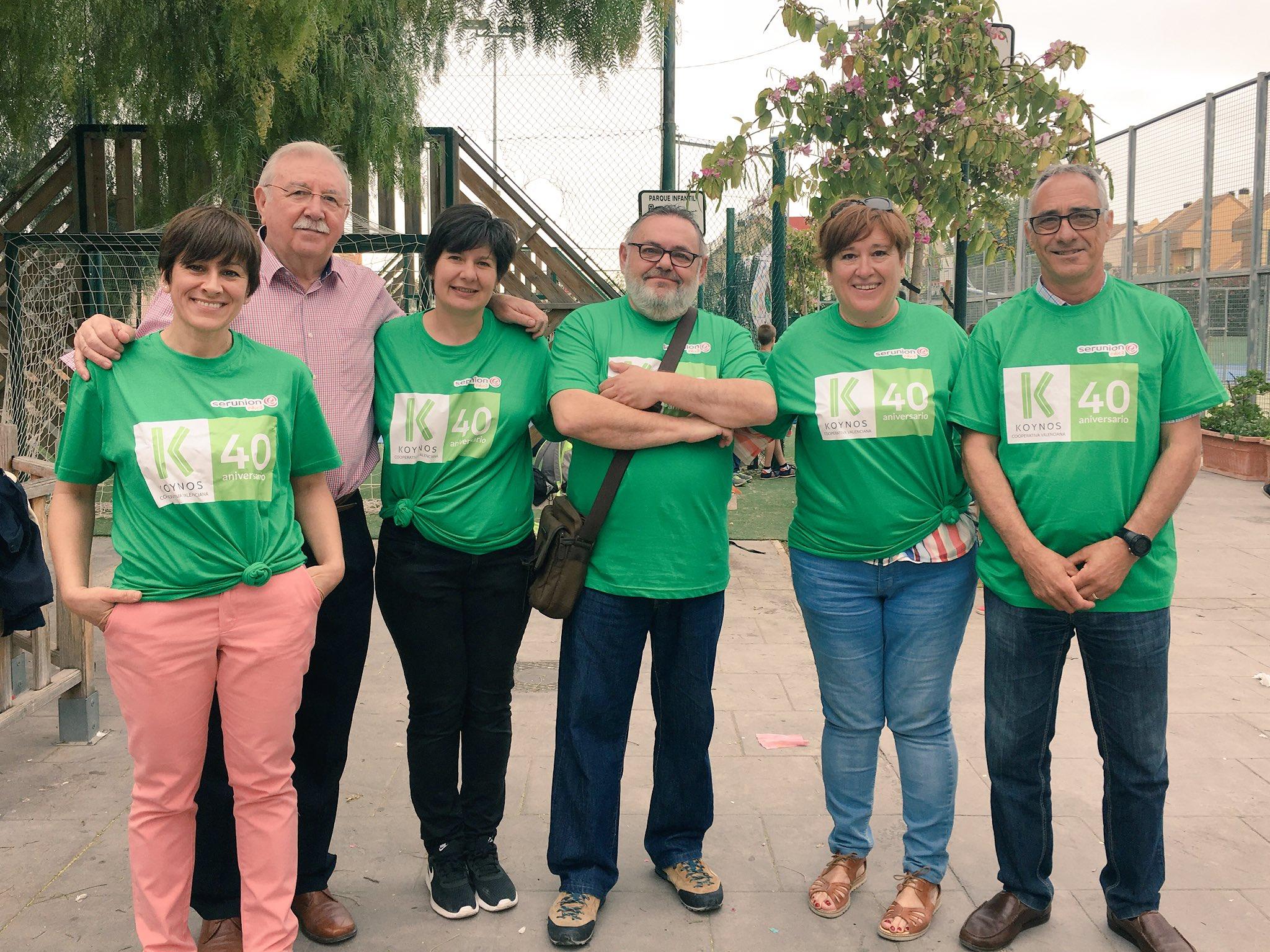 Los directores del Centro de Educación Especial, Centro Ocupacional, el presidente de Koynos Cooperativa y el concejal de Deportes de Godella