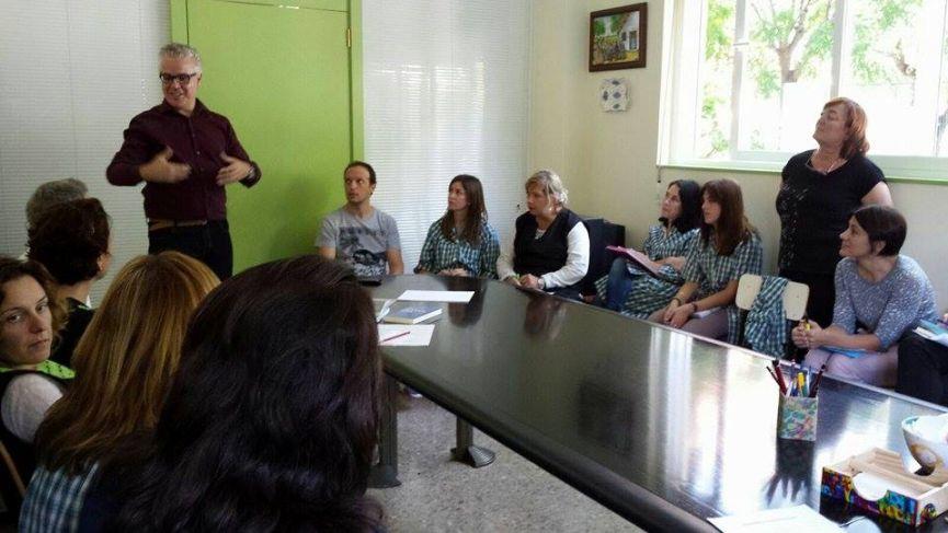 Juan Carlos Morcillo impartiendo el seminario en nuestra cooperativa
