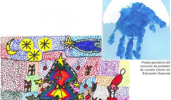Postal ganadora del concurso de postales de nuestro Centro de Educación Especial. - Postal ganadora del concurso de postales de nuestro Centro Ocupacional.