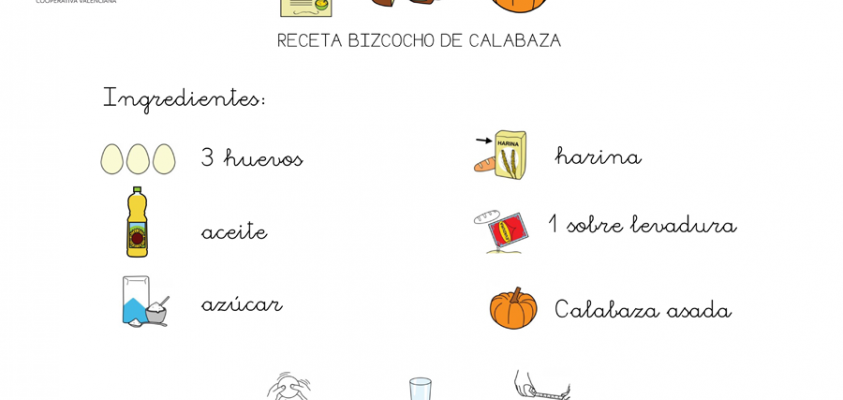 Ingredientes del bizcocho.
