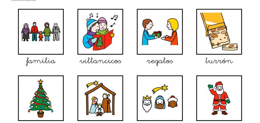 Pictogramas sobre la navidad