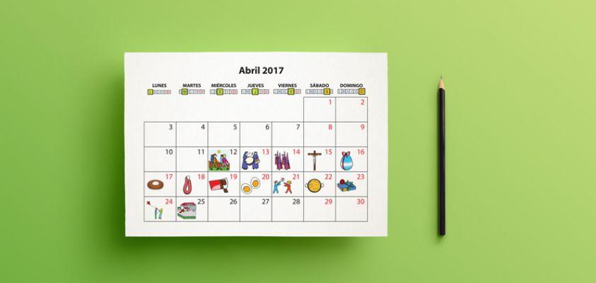 Un calendario sobre una mesa