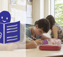 El símbolo o pictograma de la lectura fácil es una persona leyendo un libro con un pulgar hacia arriba en la portada.