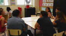 Familias en un aula de nuestro Centro de Educación Especial
